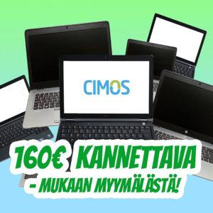 Laadukas käytetty kannettava Cimos Oy Helsinki